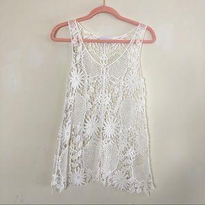 White crochet Trapeze Tank top XS